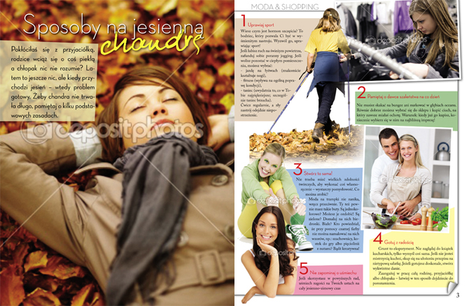 Projekt layoutu czasopisma