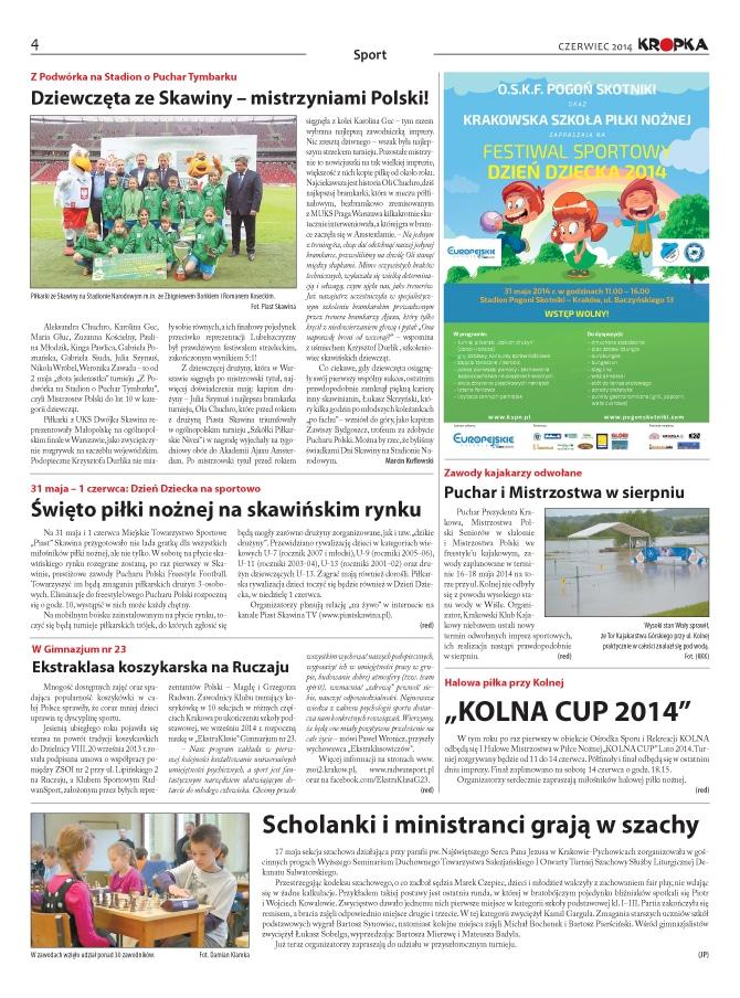 Skład gazety lokalnej