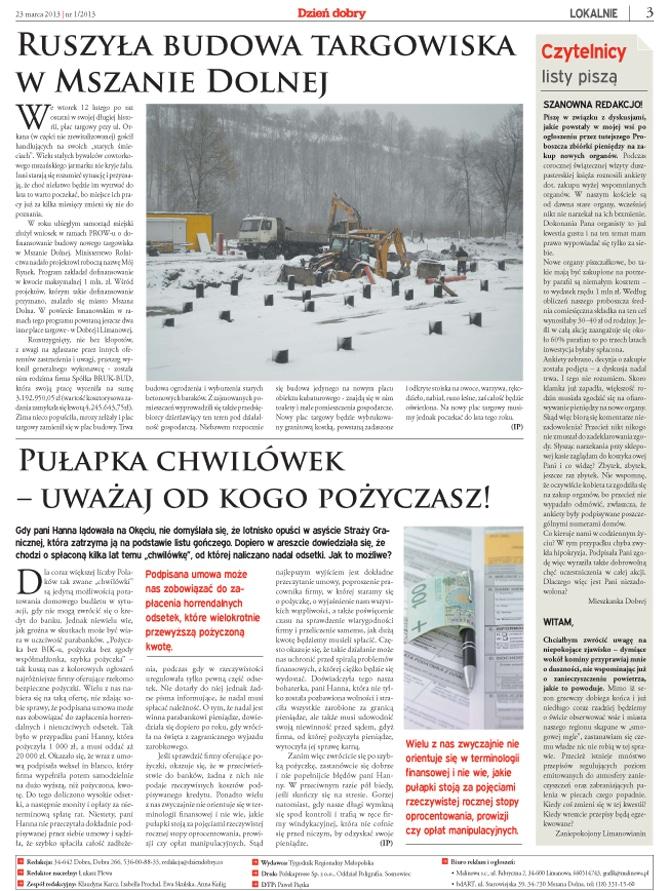 Strona gazety regionalej3