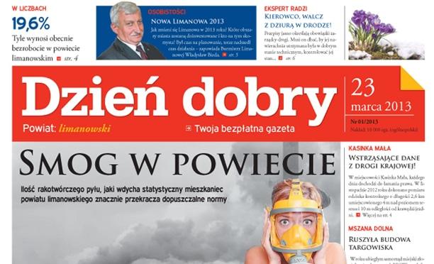 lamanie gazety regionalej Dzien dobry
