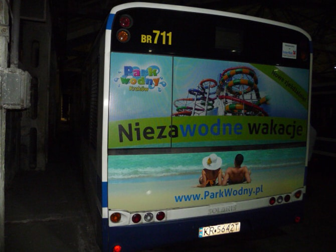 Reklamy na autobus