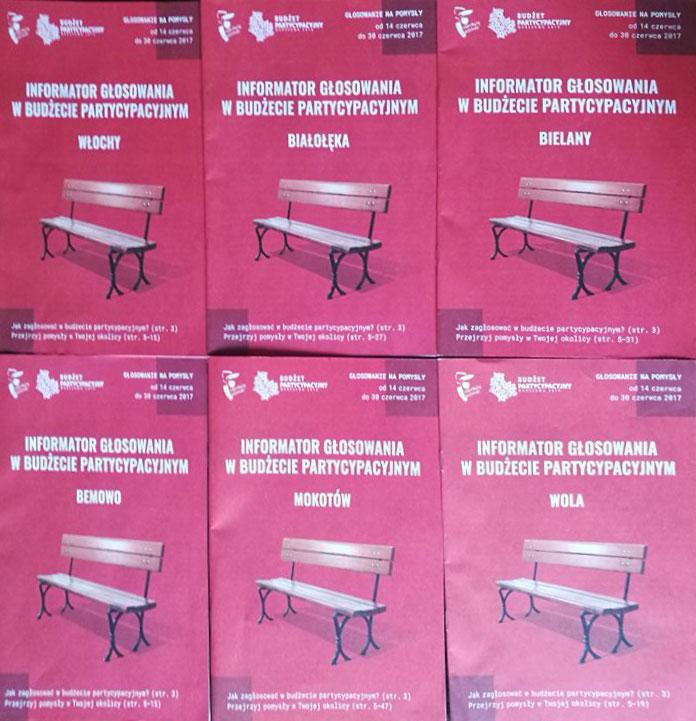 Skład broszur dla Urzędu Miasta Warszawy