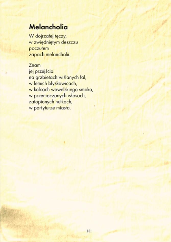 Skład tomiku wierszy wiersz