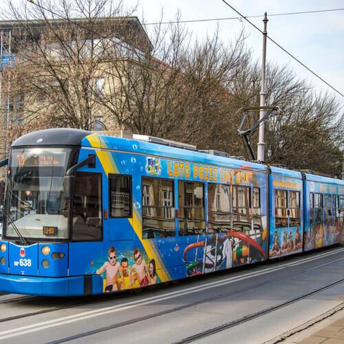 Projekt reklamy na tramwaj