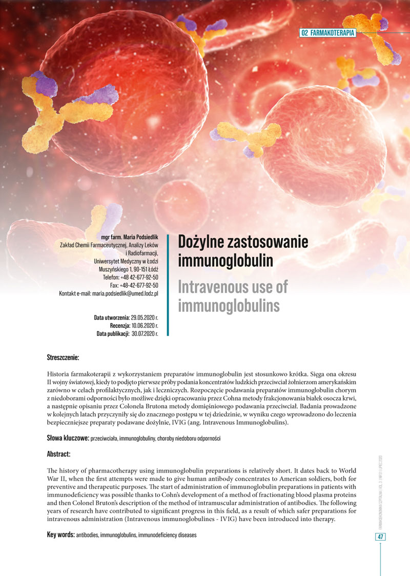 Skład kwartalnika medycznego - strona tytułowa