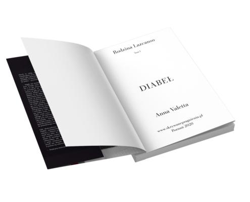 Skład prozy - strona tytułowa i skrzydełko